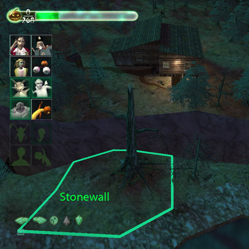 Stonewall should be bound near the base of the tree.