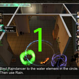 The witches' circle is broken using Raindancer and her Rain power. Breaking the circle will free Firetail.
