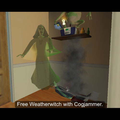 To free Weatherwitch bind Cogjammer to the radio and use his Wild and Crazy power.